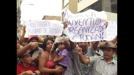 Jubilados de la empresa Tumán encabezaron las protestas en Chiclayo
