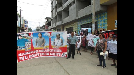 Junín: población de Satipo protesta por muertes maternas