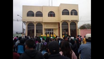 Huaral: comuneros de Aucallama intentaron tomar palacio municipal