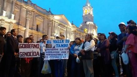 Protestas contra Tía María continúan en Arequipa