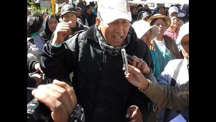 Puno: transportistas hacen platón en municipio de Juliaca