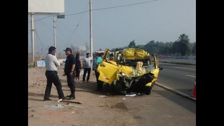Lurín: un muerto y dos heridos graves en accidente de tránsito