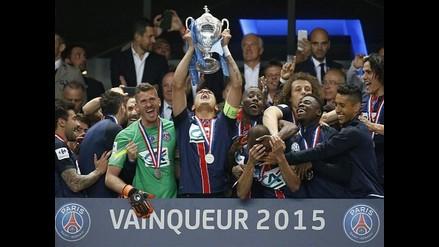 PSG venció 1-0 a Auxerre y coronó campeón de la Copa de Francia