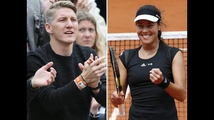 Roland Garros: Bastian Schweinsteiger, el fan número uno de Ana Ivanovic