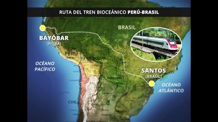 Tren bioceánico fortalecerá comercio entre Perú - Brasil