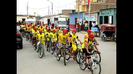 Lambayeque: bicicleteada y pasacalle contra el cigarro