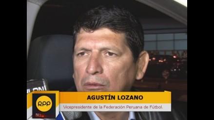 Agustín Lozano: Confiamos en transparencia de Manuel Burga y Joseph Blatter