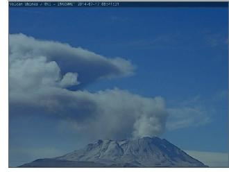 Alertan caída de cenizas por exhalación en el volcán Ubinas