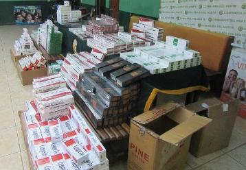 Decomisan más de 50 mil cajetillas de cigarros en Chiclayo