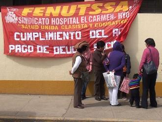 Huancayo: atención restringida en hospitales por huelga de asistenciales
