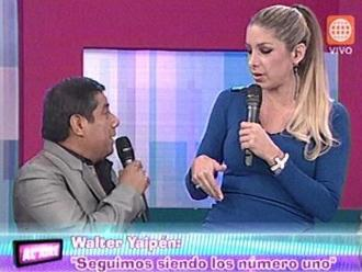 Walter Yaipén y Sofía Franco discutieron en vivo
