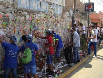 Chiclayo: alumnos y exalumnos realizan limpieza de colegio Labarthe