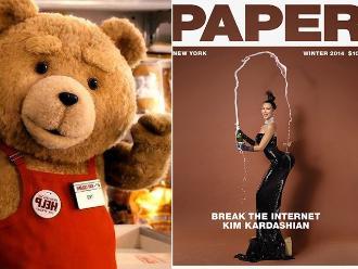 El oso Ted posa al estilo de Kim Kardashian