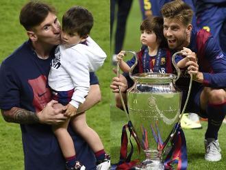 Barcelona: Messi, Suaréz y Piqué celebraron con sus hijos en el campo