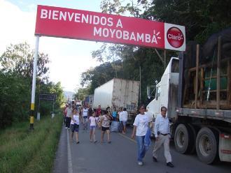 Pobladores de Moyobamba levantan paro de 48 horas