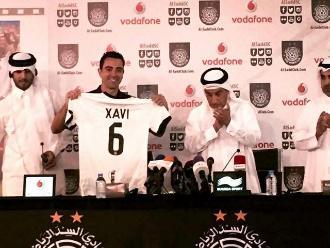 Xavi fue presentado oficialmente como nuevo jugador del Al Sadd de Qatar