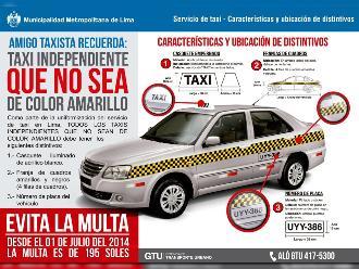 Cuáles son los requisitos para dar servicio de taxi en Lima