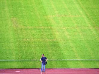 Pintan esvástica en cancha de partido de fútbol Croacia vs Italia