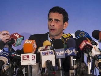 Capriles: Maduro necesita enemigos para tapar el desastre económico