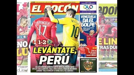 Copa América: Las portadas de los medios peruanos tras derrota ante Brasil