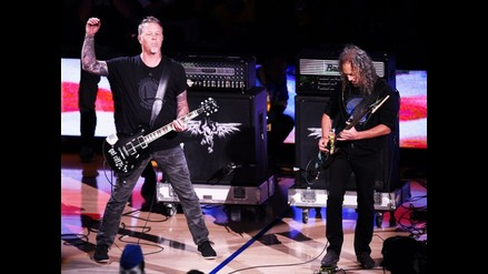 NBA: Metallica interpretó el himno de Estados Unidos en la quinta final