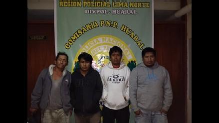 Huaral: policía logra captura de banda de extorsionadores