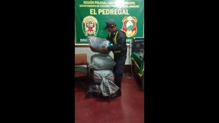 Chanchamayo: policía decomisa 105 kilos de hoja de coca
