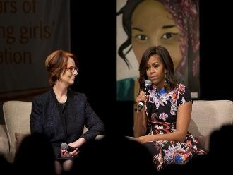 Michelle Obama aboga en Londres por la educación de las niñas