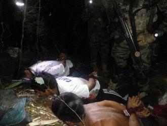 Vraem: capturan a tres hombres en plena elaboración de droga