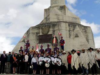 Reconocen monumento a vencedores de la batalla de Junín