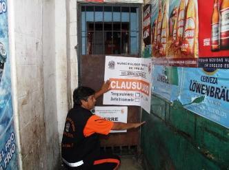 Trujillo: clausuran bares clandestinos en mercado Palermo ex Mayorista