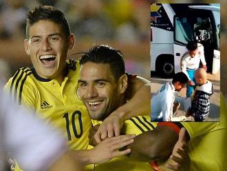 Copa América: James Rodríguez y Falcao tienen lindo gesto con niño