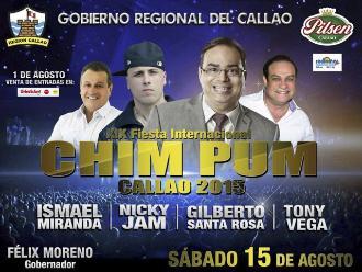 Artistas de salsa y reguetón confirmados en el Chim Pum Callao 2015