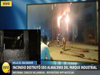 VES: Seis talleres afectados por incendio en zona industrial