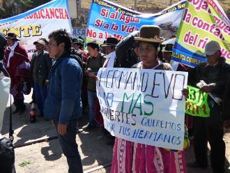 Puno: tenientes gobernadores protestaron contra Evo Morales