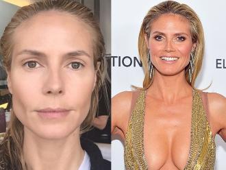 Diez famosas irreconocibles sin maquillaje