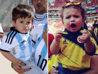 Argentina vs. Colombia: Thiago Messi y Salomé Rodríguez, los niños más famosos