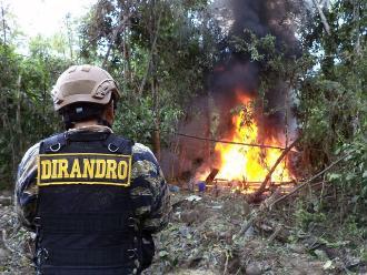 Ayacucho: destruyen pozas de maceración de hoja de coca