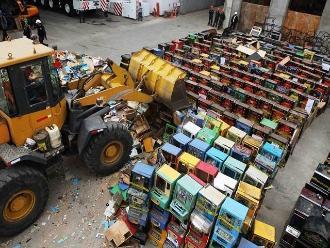 Destruyen 716 máquinas tragamonedas en diversas ciudades del país