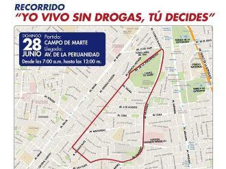 Lima: conoce los desvíos vehiculares para este domingo