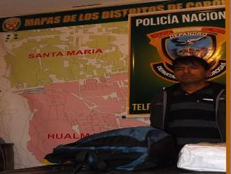 Huaura: detienen a sujeto que trasladaba cuatro kilos de droga a Lima
