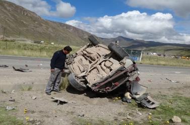 La Oroya: dos heridos deja despiste en Carretera Central