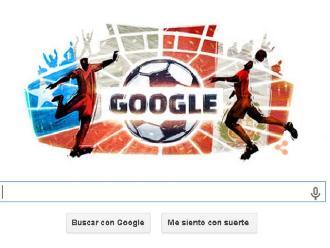 Google dedica doodle a histórico partido entre Chile y Perú por semis