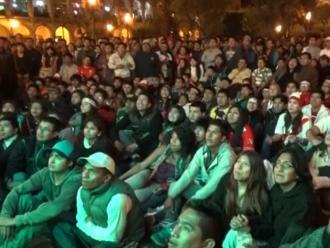 Arequipa: ciudadanos apreciaron partido Perú - Chile en Plaza de Armas