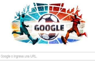 Google dedica doodle al Argentina vs. Paraguay por semifinales