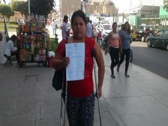 Chiclayo: comerciante pide reparación civil a municipal que la golpeó