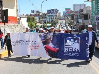 Huancayo: inician actividades por implementación de Nuevo Código Procesal