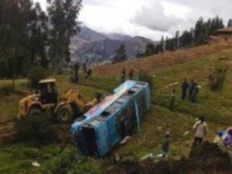 Áncash: despiste de bus interprovincial deja al menos 15 muertos