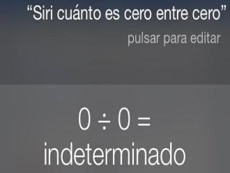 Twitter: esta es la respuesta de Siri cuando le pides dividir 0 entre 0