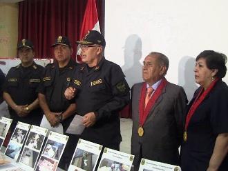 Director general PNP felicitó la desarticulación de